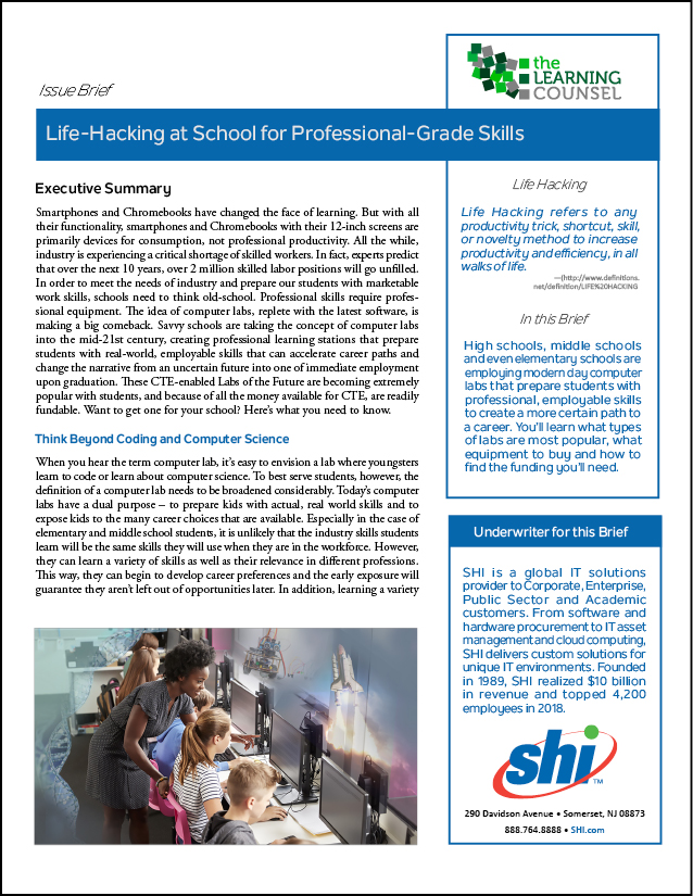 Life Hacking At School For Professional Grade Skills The Learning Counsel