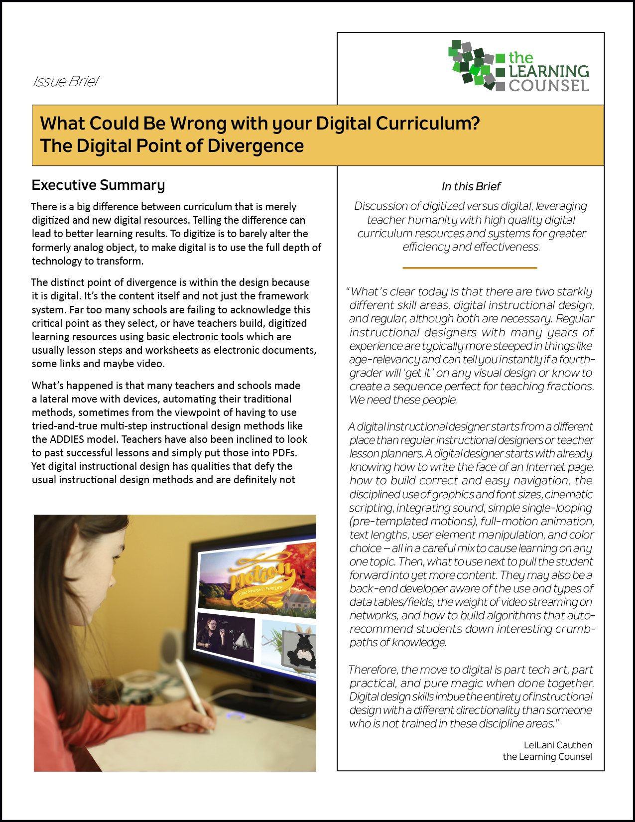 The Digital Point Of Divergence The Learning Counsel